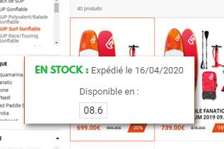 Stock en temps réel