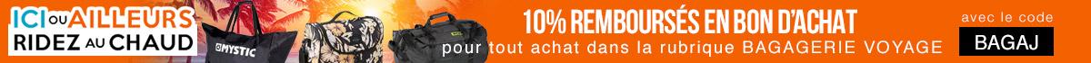 10% remboursés en bon d'achat sur la bagagerie de voyage