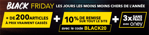 BLACK FRIDAY : 200 articles à prix cassés + 10% de remise