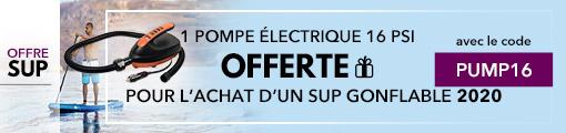 1 pompe électrique offerte pour l'achat d'un SUP gonflable 2020