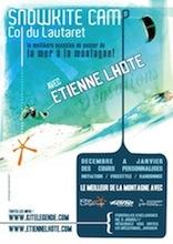 Stage de snowkite avec Etienne Lhote