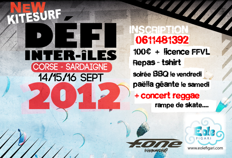 Defi Inter'iles version kite 14, 15, 16 septembre