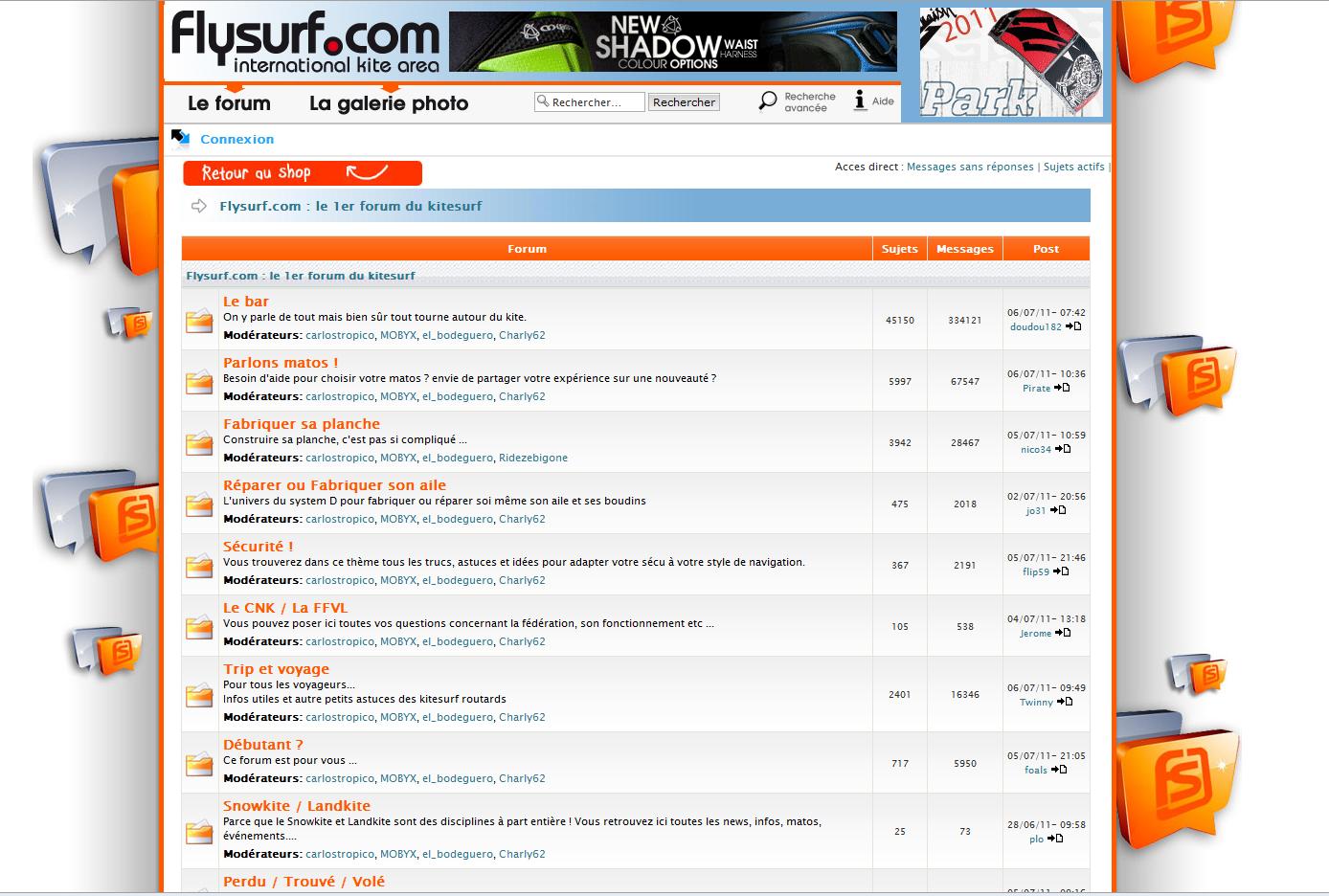 Accès au forum Flysurf