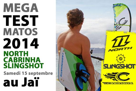 Mega test matos North, Cabrinha, Slingshot 2014 dimanche au Jai!