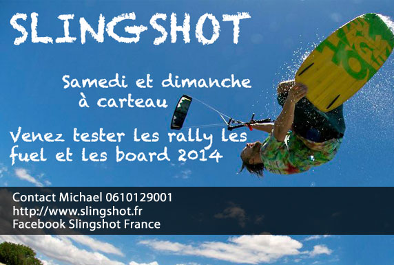 Ce weekend, grand test Slingshot 2014 à Carteau
