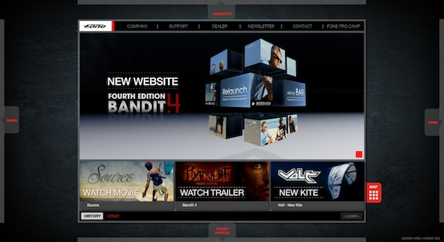 Nouveau site web pour F.One