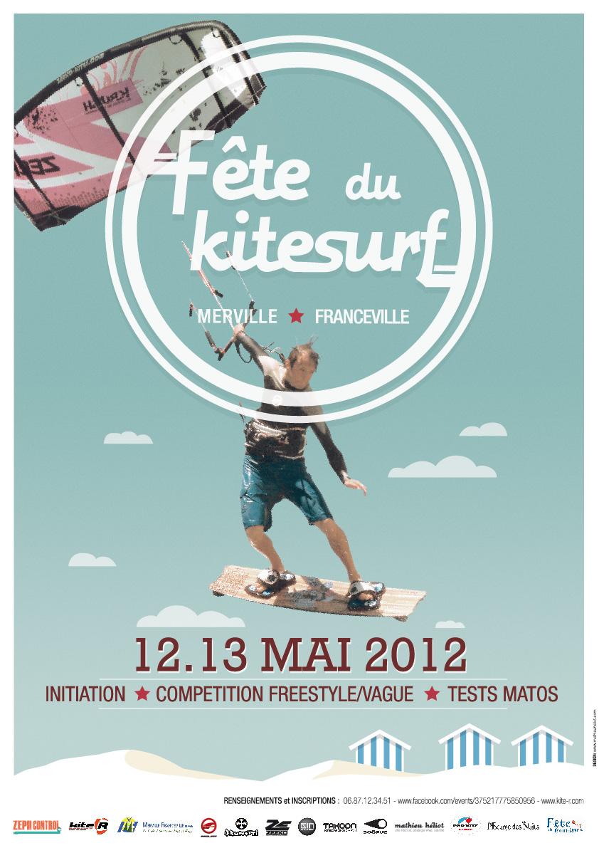 Fête du kitesurf et faites du kitesurf à Merville-Franceville