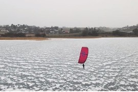 Kite sur glace avec Nick Jacobsen !