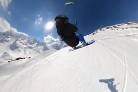 Vol de snowkite avec notre rider Lolo BSD !