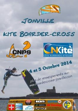 Jonville kite boarder-cross