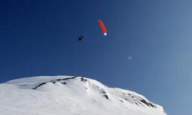 Snowkite et gros vol à Jackson Hole
