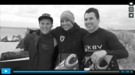 Urban kiteboarding