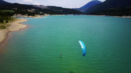 A strapless kitefoil day en Isère !