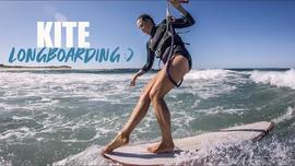 Du kite longboard avec Karolina Winkowska
