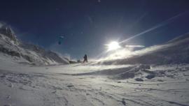 Snowkite à l'Alpe d'Huez