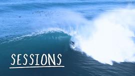 Un drone et des vagues