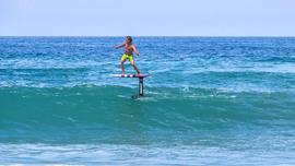 Bertrand Beauchet en surf foil