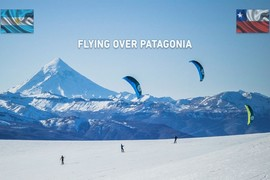 Du snowkite en Patagonie