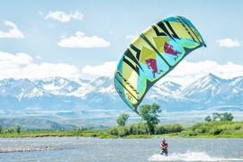 Du kite sur la rivière Yellowstone