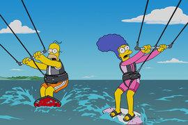 Les Simpsons se mettent au kite !