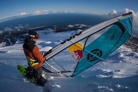 Du windsurf sur neige au Japon !
