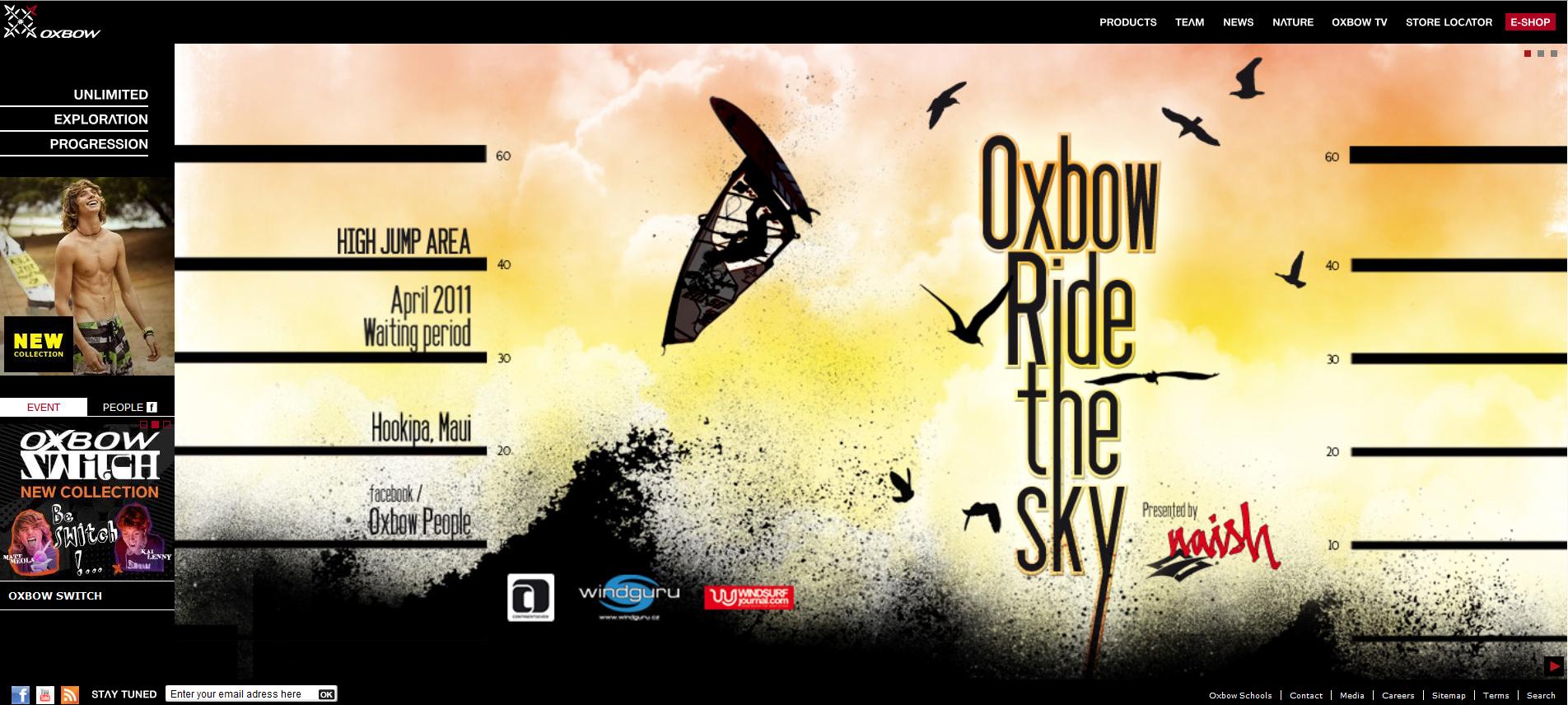 Oxbow lance son nouveau site