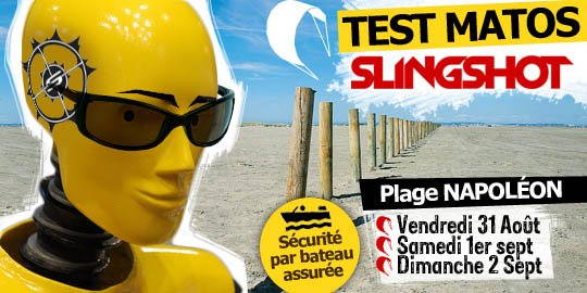 Test matos Slingshot 2013 ce weekend Plage Napoléon.