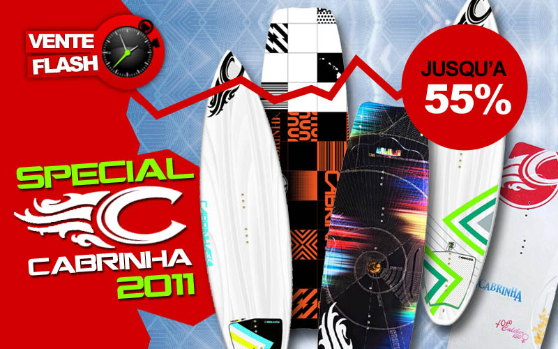 Vente Flash Cabrinha ce weekend sur Flysurf !