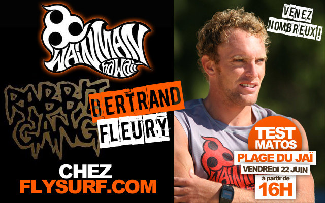 Test Wainman avec Bertrand Fleury et le team Flysurf.com