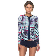 TOP NEOPRENE ROXY POP SURF SCALLOP FEMME MANCHES LONGUES 2018