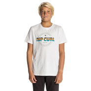 T-SHIRT RIP CURL CIRCLE BIG MAMA TEE JUNIOR BLANC