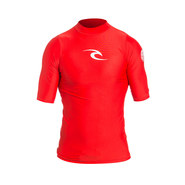 LYCRA RIP CURL CORPO UV MANCHES COURTES ROUGE