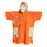 PONCHO ALL-IN V BUMPY AQUARIUM PRINT