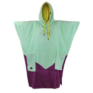 PONCHO ALL-IN V ORGANIC TURQUOISE/VIOLET