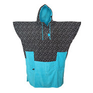 PONCHO ALL-IN V BUMPY BLEU PRINT