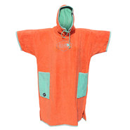 PONCHO ALL-IN CLASSIC BUMPY CORAIL/TURQUOISE