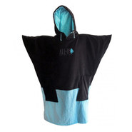 PONCHO ALL-IN V FLASH NOIR/TURQUOISE