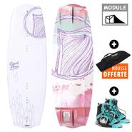 PACK WAKEBOARD FEMME LIQUID FORCE ANGEL + PLUSH 2017