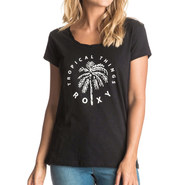 T-SHIRT ROXY BOBBY TWIST TROPICAL THINGS FEMME ANTHRACITE