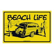 PLAQUE ALU DECO BEACH LIFE