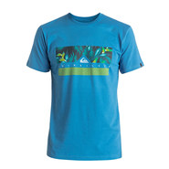 T-SHIRT QUIKSILVER CLASSIC JUNGLE BOX BLEU