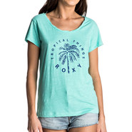 T-SHIRT ROXY BOBBY TWIST TROPICAL THINGS FEMME BLEU