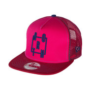 CASQUETTE NORTH NEW ERA 9FIFTY A FRAME ROUGE