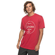 T-SHIRT QUIKSILVER CLASSIC MORNING SLIDES ROUGE