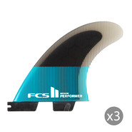 DERIVES FCS II PERFORMER PC TEAL/NOIR SET DE 3