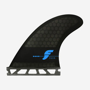 DERIVES THRUSTER FUTURES FINS F4 RTM HEX SMOKE BLACK F SERIES