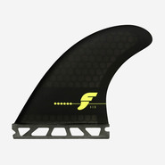 DERIVES THRUSTER FUTURES FINS F6 RTM HEX SMOKE BLACK F SERIES