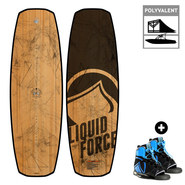 PACK WAKEBOARD LIQUID FORCE FLX LTD + RONIX DIVIDE 2017