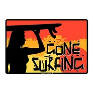 PLAQUE ALU DECO GONE SURFING SUNSET