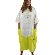 PONCHO ALL IN BUMPY JAUNE FLUO